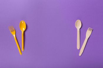 Organic bamboo disposable cutlery vs plastic ones
