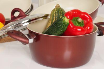 Ceramic coated pot