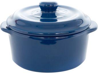 Enameled blue cast iron