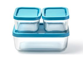 glass food container isolated