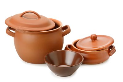 Set of clay utensils