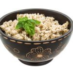 Boiled brown rice