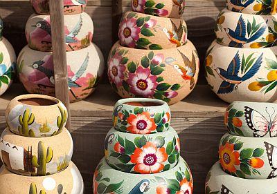decorative clay pieces
