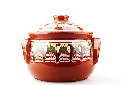 glazed clay pot