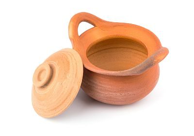 stored clay pot